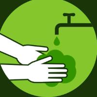 Lave as mãos com água e sabão ou use álcool em gel.
