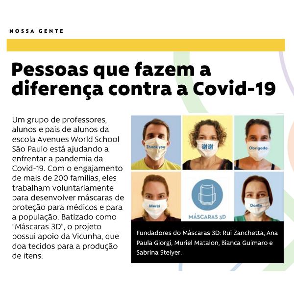 #NossaGente - Pessoas que fazem a diferença contra a Covid-19