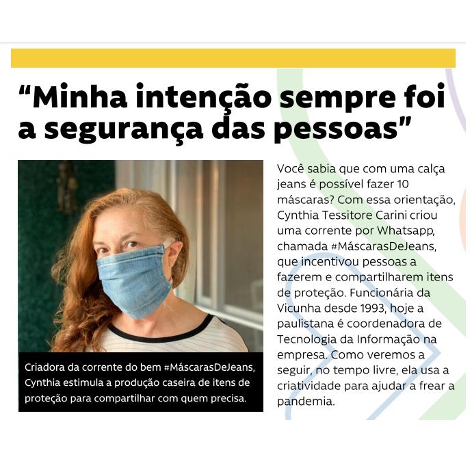 #NossaGente - Máscaras caseiras ajudam na prevenção da COVID-19