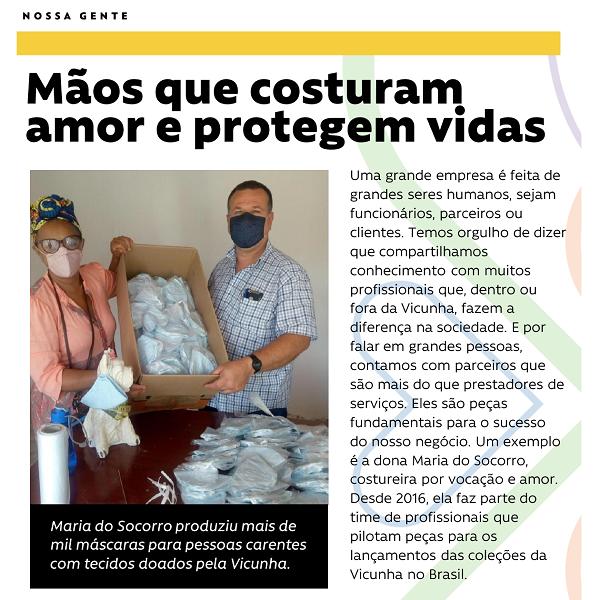 #NossaGente - Mãos que costuram amor e protegem vidas